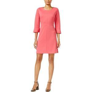 Maison Jules Rouge Jewel Neck Long Sleeve Dress